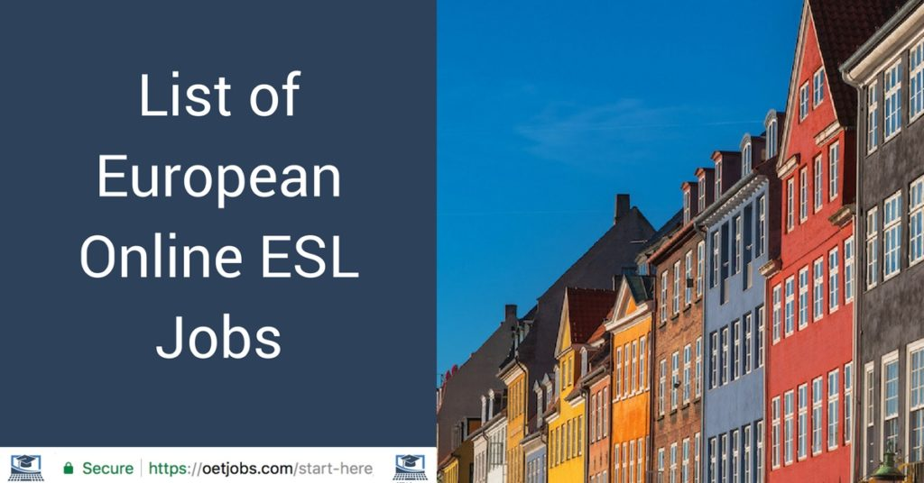 List of European Online ESL Jobs