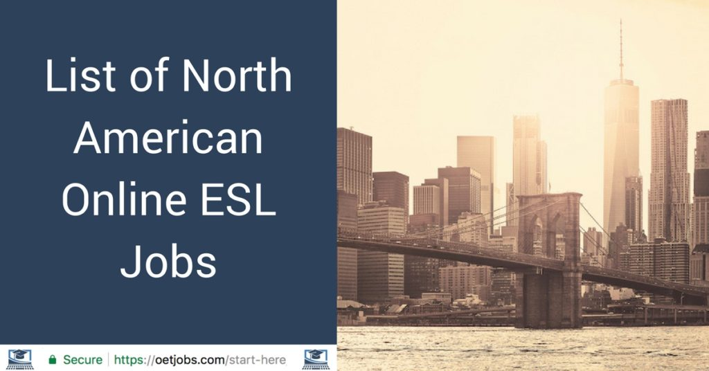 List of North American Online ESL Jobs