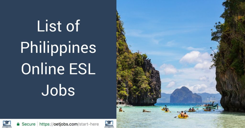 List of Philippines Online ESL Jobs